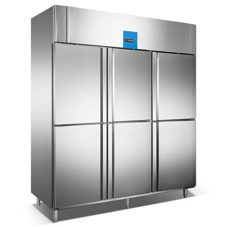 Upright Reach-In Refrigerator With 6 Half Door (Luxury Ventilated Series)