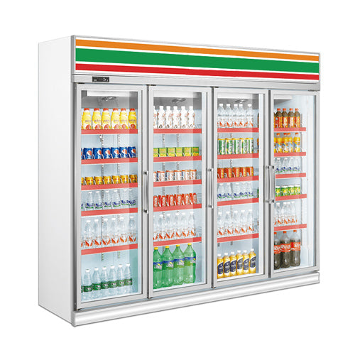 Beverage Showcase With 4 Glass Door