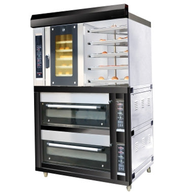 5 Tray Gas Convection Oven with 2 Decks and 8 Tray Gas Deck Oven