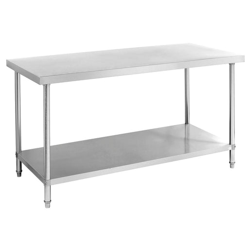 Stainless Steel Work Bench With 1 Under Shelf (Round Tube Leg)