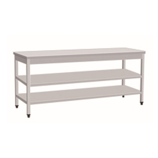 Stainless Steel Work Bench With 2 Under Shelf (Square Tube Leg)