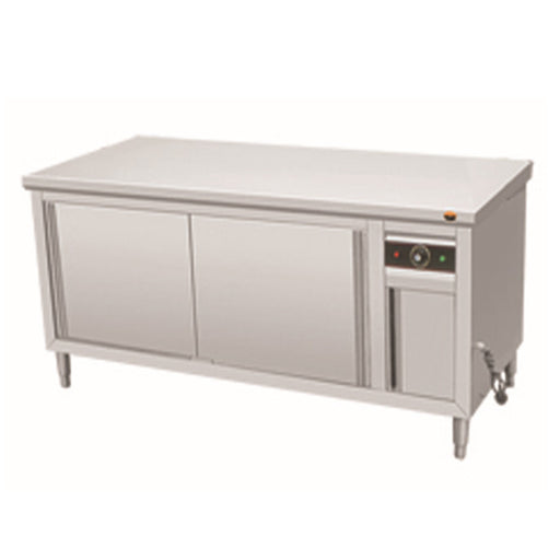 Stainless Steel Hot Cabinet with Sliding Door