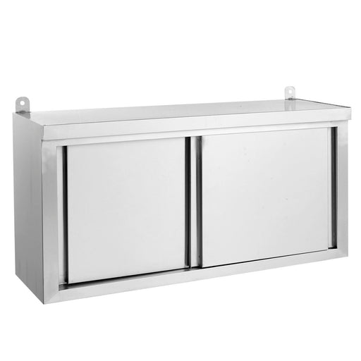 Stainless Steel Wall Cabinet with Sliding Door