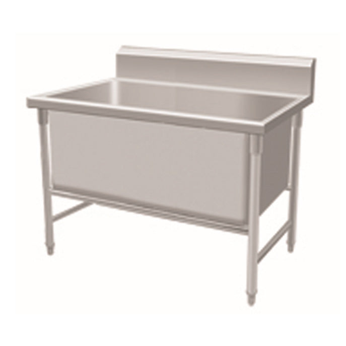 Stainless Steel Deep 1-Bowl Sink Bench With Backsplash