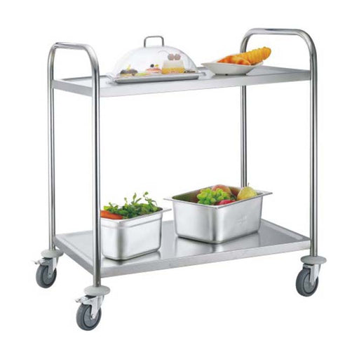 2-Tier Round Tube Service Trolley