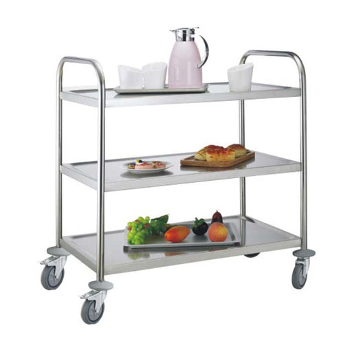 3-Tier Round Tube Service Trolley