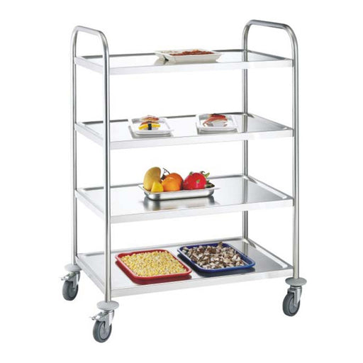 4-Tier Round Tube Service Trolley