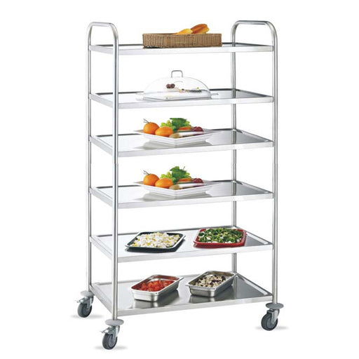 6-Tier Round Tube Service Trolley