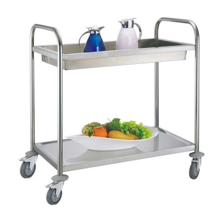 2-Tier Round Tube Clearing Trolley