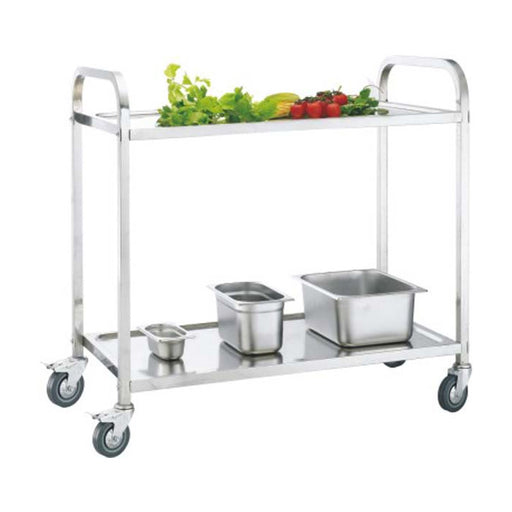 2-Tier Square Tube Service Trolley