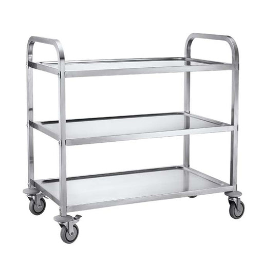 3-Tier Square Tube Service Trolley