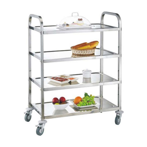 4-Tier Square Tube Service Trolley