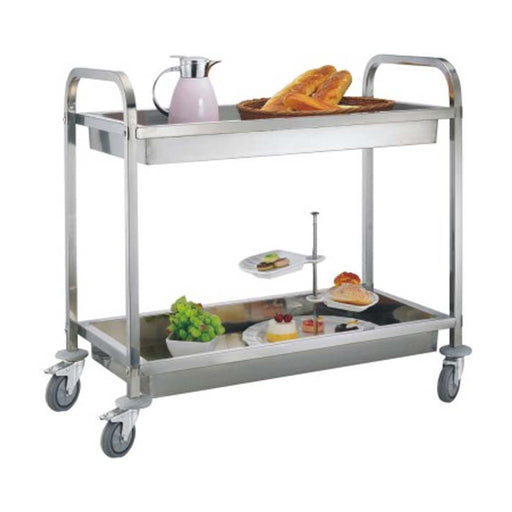 2-Tier Square Tube Clearing Trolley