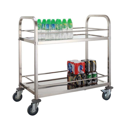 2-Tier Square Tube Beverage Trolley