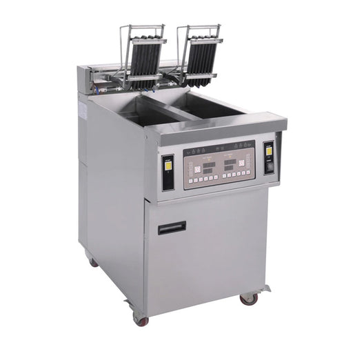 2 Tank and 2 Basket Electric Open Fryer with Oil Pump (Digital Control)
