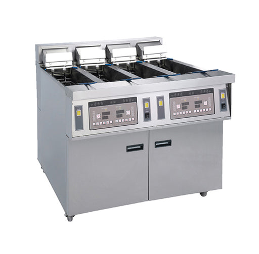 4 Tank and 4 Basket Electric Open Fryer with Oil Pump (Digital Control)