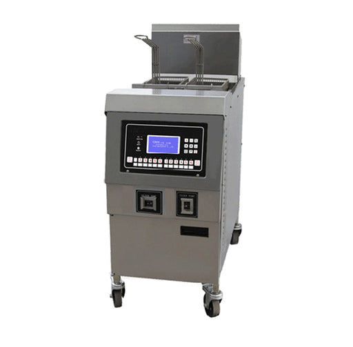 1 Tank and 2 Basket Electric Open Fryer with Oil Pump and LCD Panel (Digital Control)