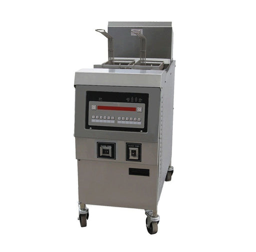 1 Tank and 2 Basket Gas Open Fryer with Oil Pump (Digital Control)