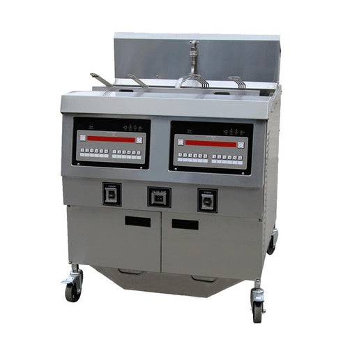 2 Tank and 4 Basket Gas Open Fryer with Oil Pump (Digital Control)