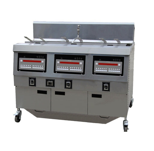 3 Tank and 6 Basket Gas Open Fryer with Oil Pump (Digital Control)