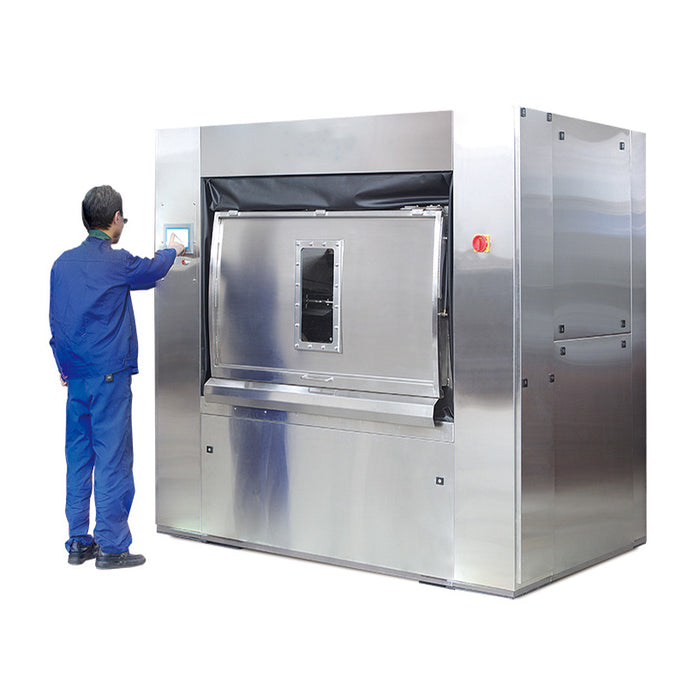 Fully Automatic Barrier Washer Extractor (Hospital Use) - 150KG  (Full S/S 304)