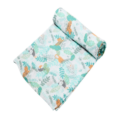 Couverture mousseline bambou pour bébé, Angel Dear, LA JUNGLE