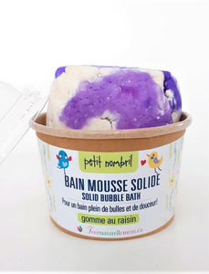 Bain mousse solide, Petit nombril