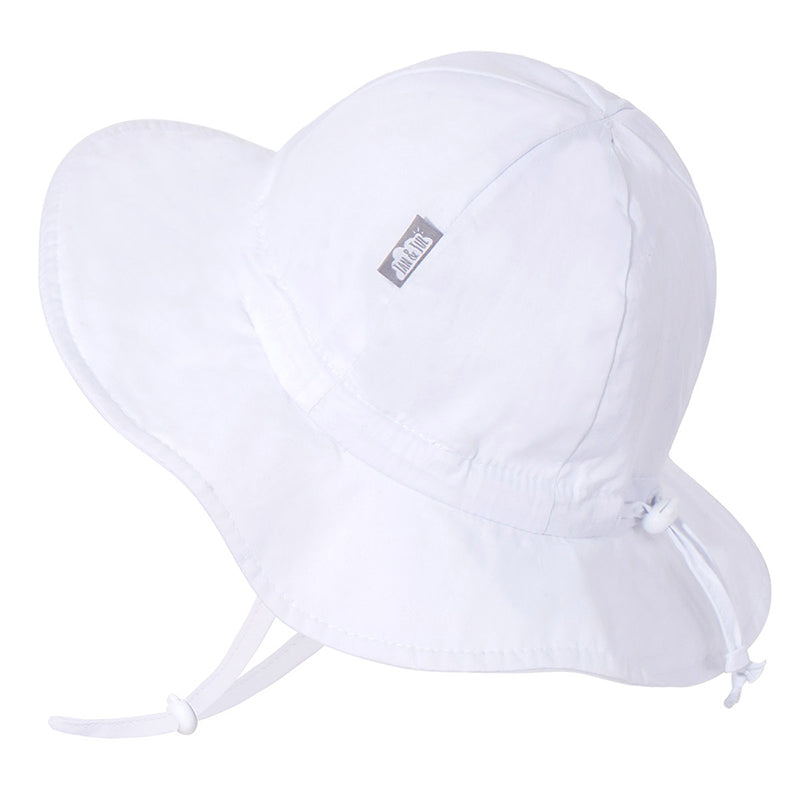 Chapeau soleil ajustable en coton, Jan & Jul, Blanc