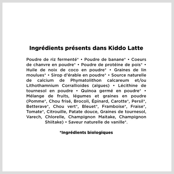 Kiddo Latte | Enfants de 24 mois et plus, The Latte Co.
