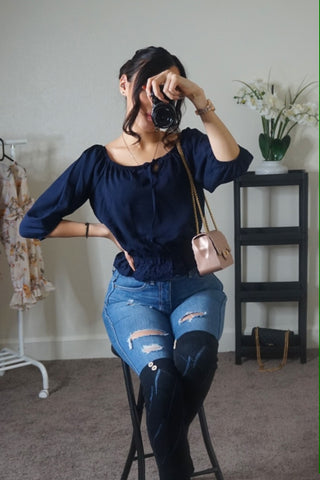 Karla top (navy)