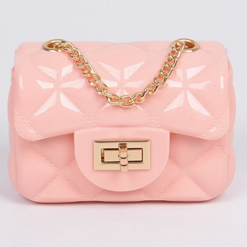 Jelly cutest cross body clutch bag (pink)