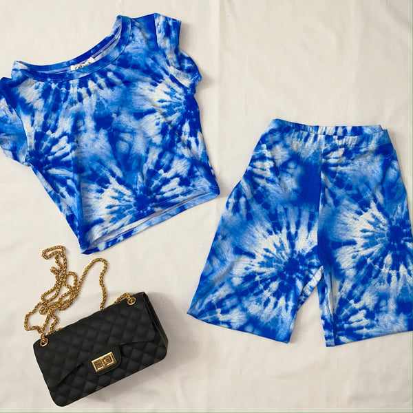 Mia two piece set tie dye (blue)