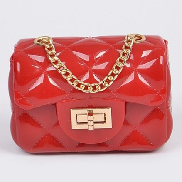 Jelly cutest cross body clutch bag (red)