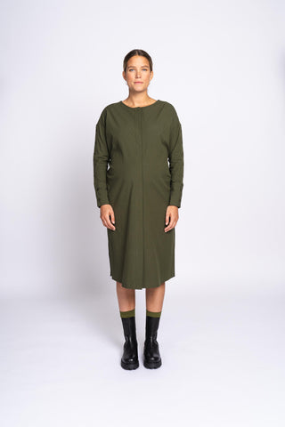 THE TWISTABLE DRESS - gutsy green