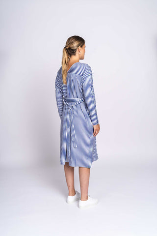 THE TWISTABLE DRESS - bold blue