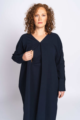 THE TWISTABLE DRESS - nostalgic navy