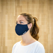 The Face Mask blue - on person - left side