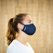 The Face Mask blue - on person - right side