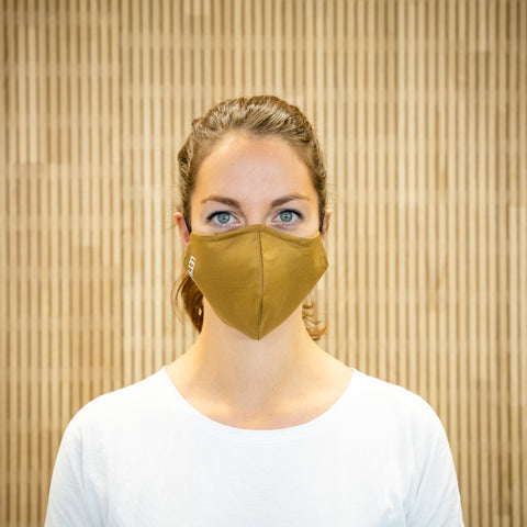 The Face Mask camel - on person - front