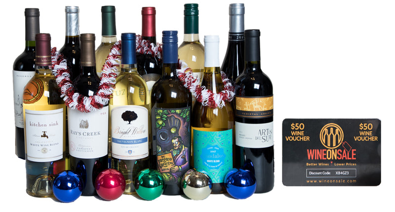 Groupon - Holiday 12 Pack Wine + $50 Wine Voucher - Wine on Sale