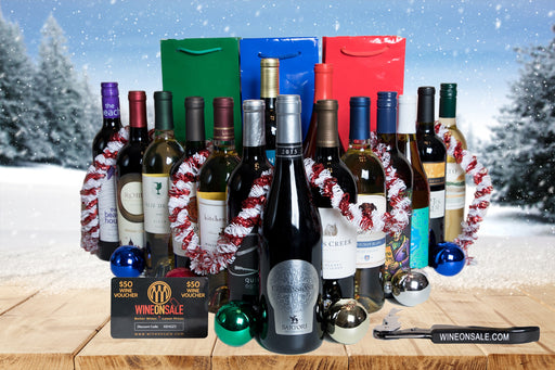 Groupon - 15 Pack + 3 Gift Bags + Corkscrew + Wine Voucher - Wine on Sale