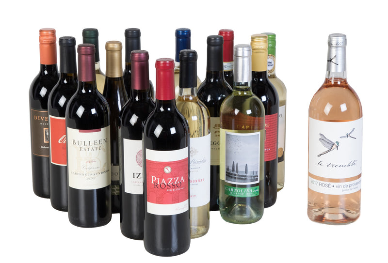 Groupon - 15 Pack + 1 Bonus Rose - Wine on Sale
