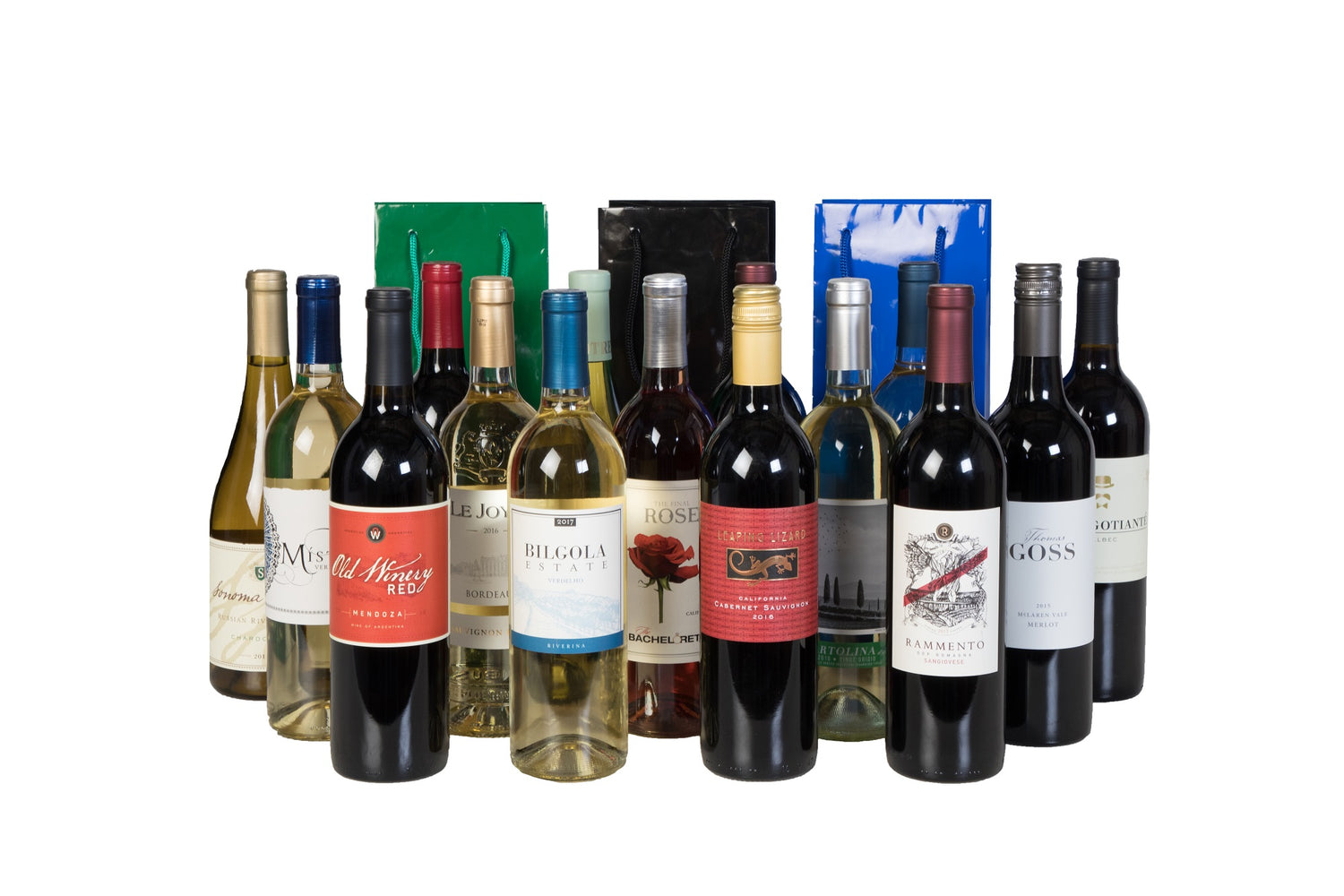 Groupon - Holiday 15 Pack Wine + 3 Holiday Gift Bags - Wine on Sale
