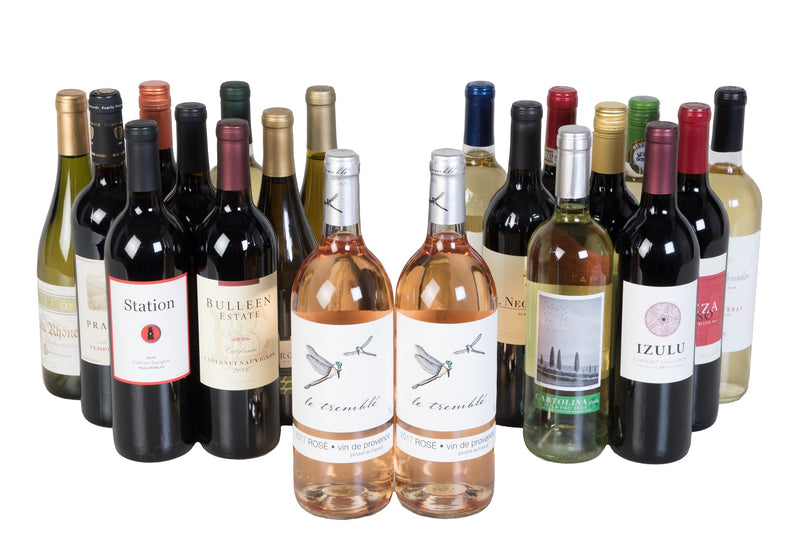Groupon - 18 Pack + 2 Bonus Roses - Wine on Sale