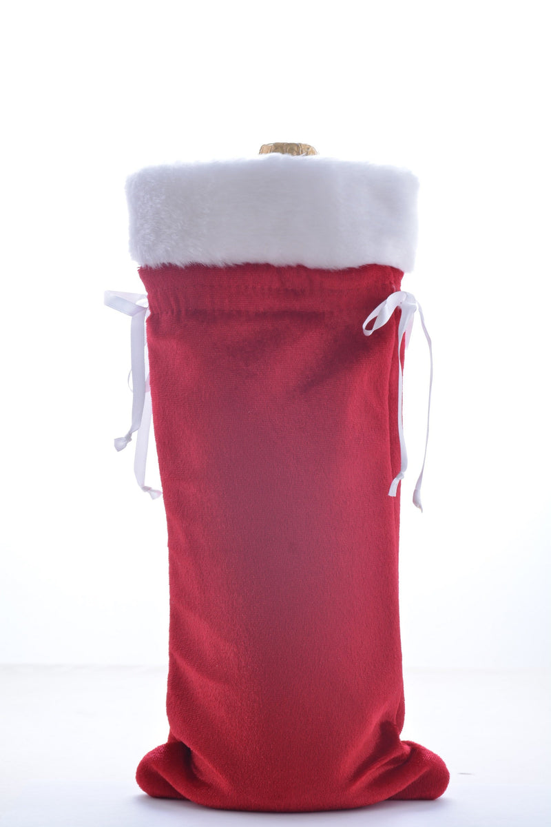1 Velvet Holiday Wine Gift Bag - Wine on Sale