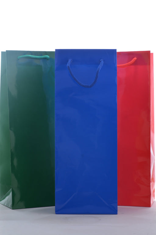 3 Holiday Wine Gift Bags (Blue, Green, Red) - Wine on Sale
