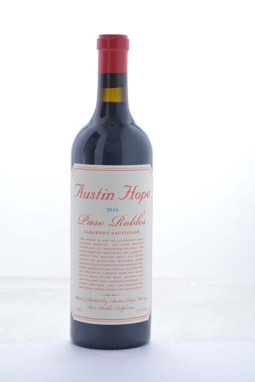 Austin Hope Cabernet Sauvignon 2016 - 750 ML - Wine on Sale
