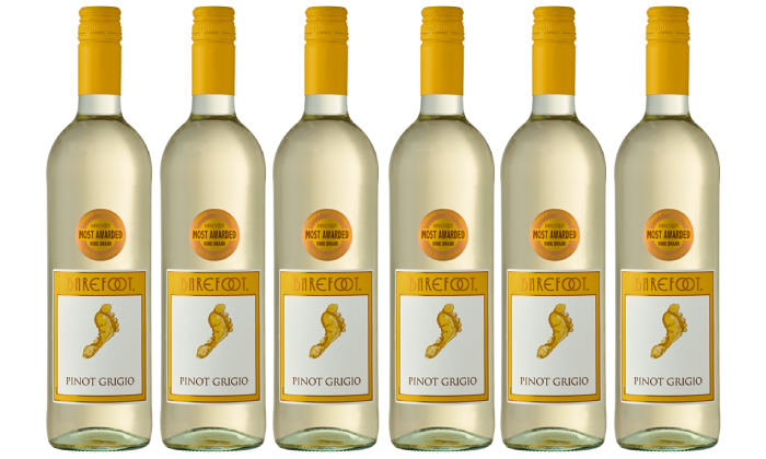 Groupon Barefoot Wine - 6 Pack