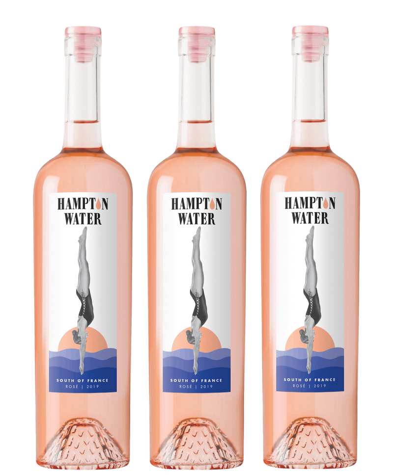 Diving Into Hampton Water Rose 2020 Pack - 1, 3, 6, 12, 15, 18 Bottles
