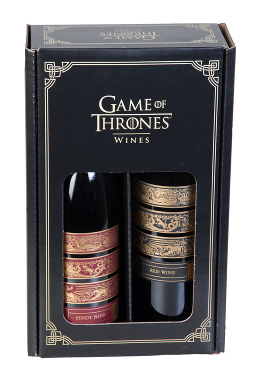 Game of Thrones Wine Collector Box - 2 Wine Bottles